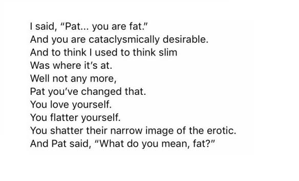 Pat by John Hegley