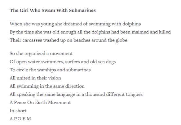 The Girl Who Swam With Submarines by Daniel Cockrill